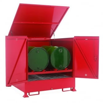 British Fully Enclosed Drum Sump - 2 Horizontal Drums