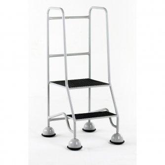 British GRP Classic Plus 2 Tread Steps Full Handrail GRP Treads