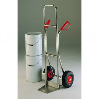 British High Back Stainless Steel Sack Truck Capacity 200kgs