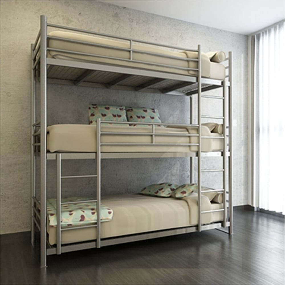 Commercial Double Amp Triple Bunk Beds
