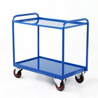 British Industrial 2 Steel Panel Tray Trolleys