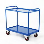 Industrial 2 Steel Panel Tray Trolleys