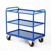 Industrial 3 Steel Panel Tray Trolley