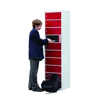 British Laptop Storage Locker 10 Compartments 450mm wide