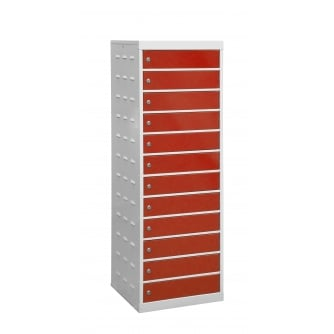 British Laptop Storage Locker 12 Compartments 500mm wide - with/without door