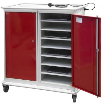 British Laptop Storage Lockers with 16 Compartments