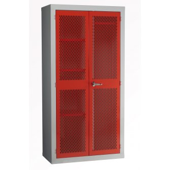 British Mesh Door Spilt Locker 1830x915x457mm & Garment Rail