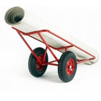 British Mobile Carpet Trolley with Pneumatic Tyres or Solid Wheels Capacity 500kg