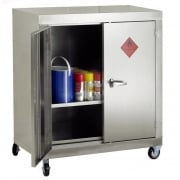Mobile Stainless Steel Storage Cupboard 915 x 457 x 1330mm high