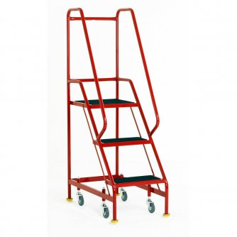 British Narrow Aisle Spring Loaded 3 Steps Rubber Treads