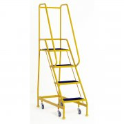 Narrow Aisle Spring Loaded 4 Steps Anti-Slip Treads