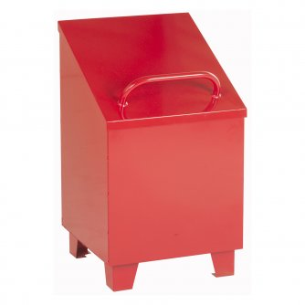 British Oily Rag Bin Large & Small with Liner - Red