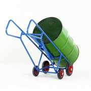 Pallet loading drum truck with bar handles