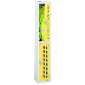 British Perforated Door Locker 2 Compartment