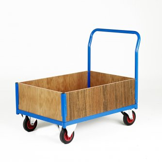 British Plywood Side Frame Platform Truck