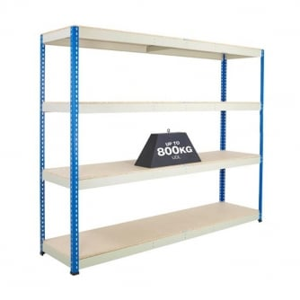 British PQ 800 Boltless Shelving and Racking 800KG UDL Chipboartd Shelves
