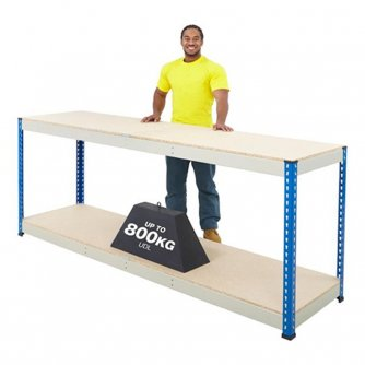 British PQ800 Workbenches Blue/Grey 2 Levels 800kg UDL