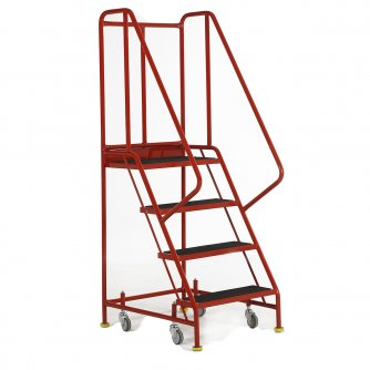 British Premier Commercial 4 Steps with Retracting Castor
