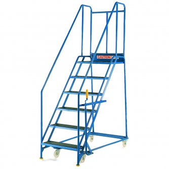 British Quality Blue Range Steps with Handlock Anchorage 760mm W Treads 5 to 14 Steps