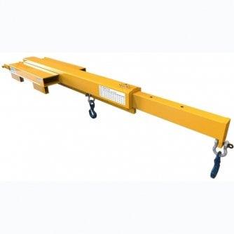 British Slim Fork Mounted Jib Crane up to 4.4 tonne capacity