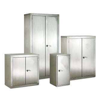 British Stainless Steel CB Cupboards 915 to1830mm High