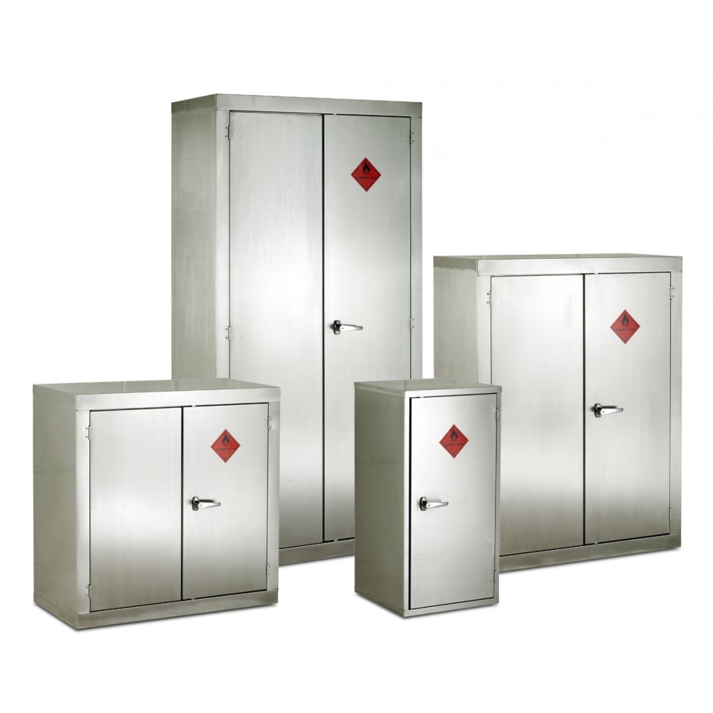 metal storage lockers stainless steel flammable storage cabinet 915mmw x 1830mmh 23293