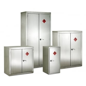 British Stainless Steel Flammable Storage Cabinets