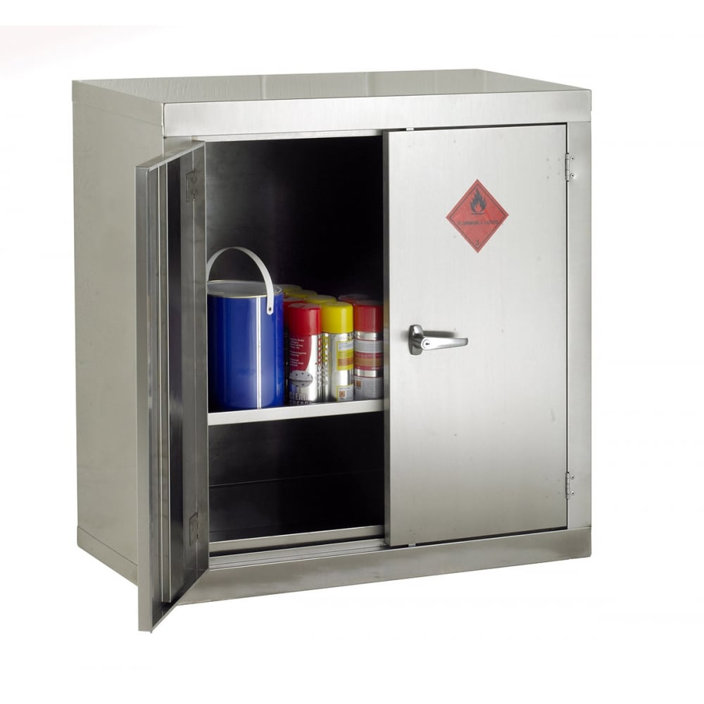 stainless steel flammable storage cabinet 915mmw x 1830mmh. Black Bedroom Furniture Sets. Home Design Ideas