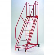 Standard Quality Red Range Mobile 4 Steps with Handlock Anchorage