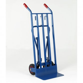 British Super HD 3 Position Sack Truck Solid Tyres Capacity 350kgs