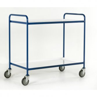 British Tray Trolleys Small 2 or 3 Tray with White Epoxy Trays