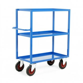 British TT350 Series Heavy Duty Tray Trolleys with 3 Shelves 900 or 1200mm