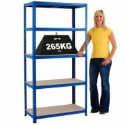 Value Shelving Capacity Now 265KG UDL 3 widths and 3 depths all 1780mm High
