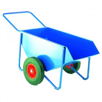 British Wheelbarrow Skip with Solid or Pneumatic Tyres