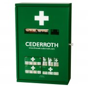 Cederroth First Aid Cabinet protects against dust, moisture and dirt