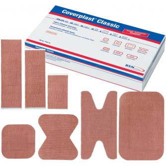 CoverPlast Classic Fabric Stretch Plasters, 7.2x2.2cm (Pack of 100)