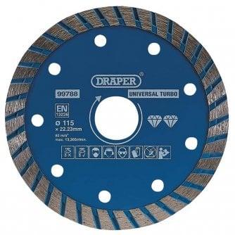 Draper Turbo Diamond Blade Cutting Disc (115mm)