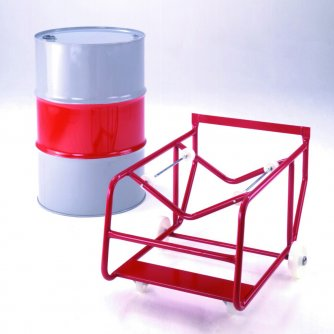 British Drum stand with outrigger wheels and drum rotators
