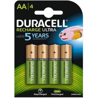 Duracell AA rechargeable DURALOCK 2400mAh ULTRA (Pack of 4)