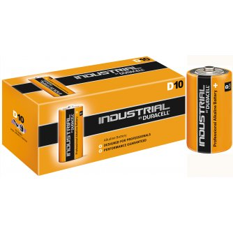 Duracell D Industrial Batteries 1.5V LR20 (Box of 10)