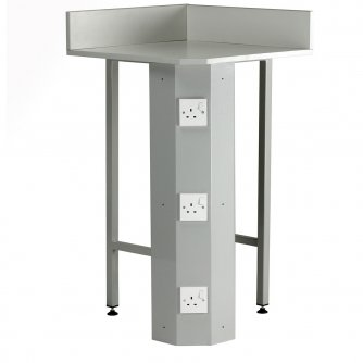British Euro Corner Unit with Up stand Power Socket