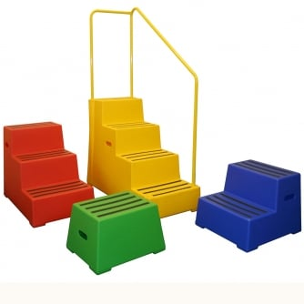 Excelsior Non Slip Plastic Safety Steps from 1 to 4 Steps