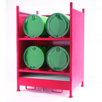 British Fully Enclosed Drum Sump - 4 Horizontal Drums