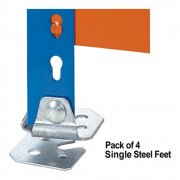 Galvanised Steel Feet - Pack x 4 100mm deep