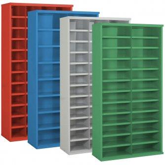 British Half Height 6 x Steel Bin Cabinets 937mmH x 305/355/460mmD