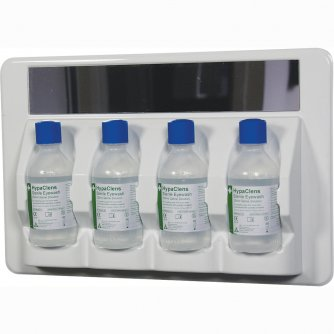 HypaClean HypaClens 4x250ml Eyewash Station with 4 Eyewash Bottles (250ml)