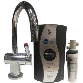 Insinkerator Instant Hot & Cold Water Chrome Tap Kit FHC3300C - Tap, Boiler & Filter