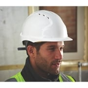 JSP EVO Mid Peak Vented Safety Helmet in Yellow or White