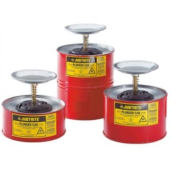 Justrite Solvent Dispensing Steel Plunger Cans 3 Sizes