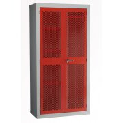 Mesh Door Spilt Locker 1830x915x457mm & Garment Rail